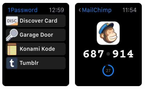 1Password - Password Manager Aplicativos para Apple  Watch 40 Melhores Aplicativos para Apple Watch ! 1Password Password Manager
