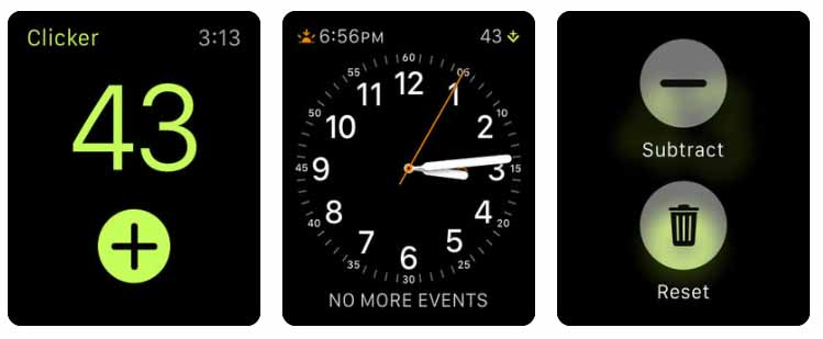 Clicker - Count Anything Aplicativos para Apple  Watch 40 Melhores Aplicativos para Apple Watch ! Clicker Count Anything