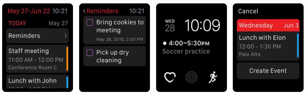 Fantastical 2 Aplicativos para Apple  Watch 40 Melhores Aplicativos para Apple Watch ! Fantastical 2