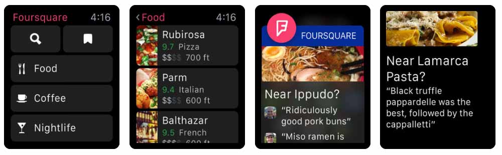Foursquare City Guide Aplicativos para Apple  Watch 40 Melhores Aplicativos para Apple Watch ! Foursquare City Guide