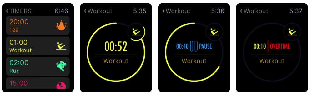 MultiTimer: Multiple timers Aplicativos para Apple  Watch 40 Melhores Aplicativos para Apple Watch ! MultiTimer Multiple timers