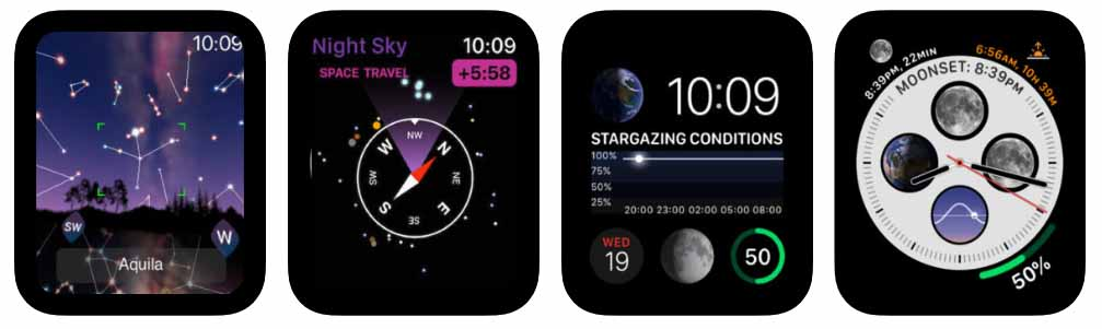 Night Sky Aplicativos para Apple  Watch 40 Melhores Aplicativos para Apple Watch ! Night Sky