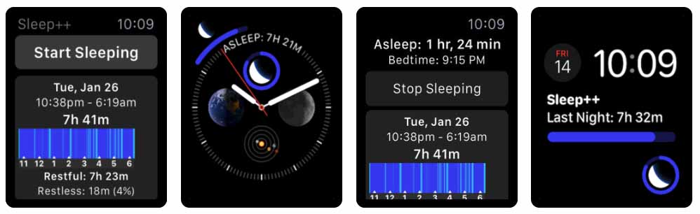 Sleep++ - apple watch Aplicativos para Apple  Watch 40 Melhores Aplicativos para Apple Watch ! Sleep apple watch